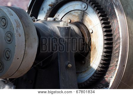 The Detail Of Old Electric Motor