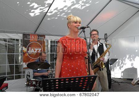 Netherlands - Voorschoten - 15 June 2014: Jazz Flavour With Singer Levana Haak During Performance At