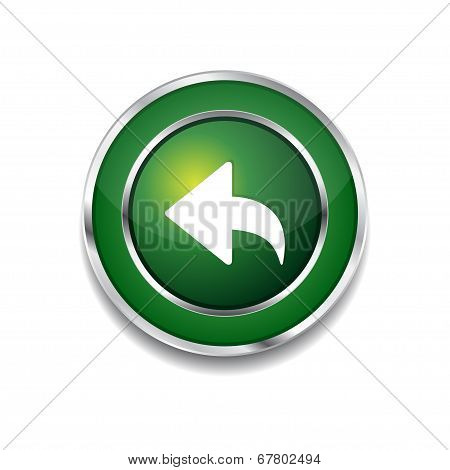 Reset Replay Circular Vector Green Web Icon Button