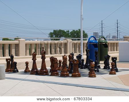Pedestrian Park Chess Pieces