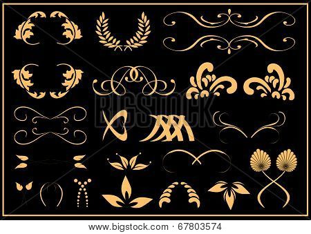 Black and Gold vector elements