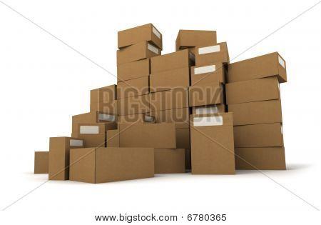 Cartons On A Pile