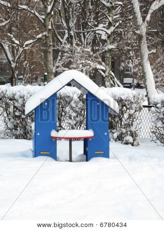 Snow On A Playground