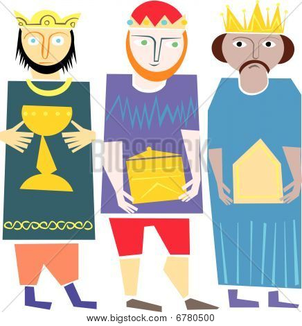 Wisemen cartoon vector