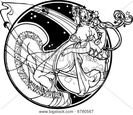 Muse vector illustration