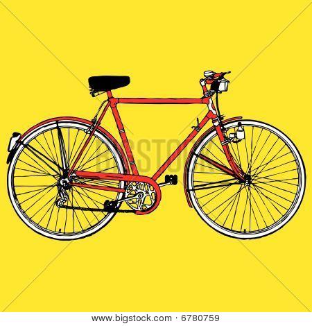 Bicicleta clásica vieja ilustración vectorial