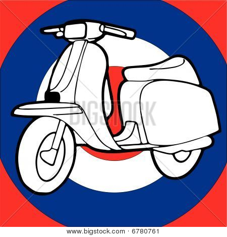 Scooter vector illustration retro vintage pop