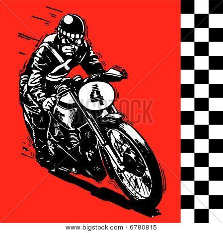 Moto moto retro vintage clásico vector