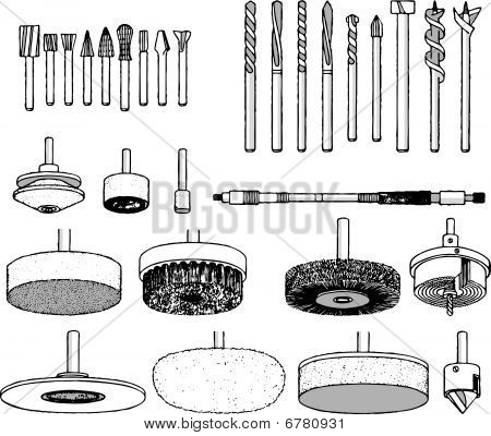 Collection of tool vector illustration