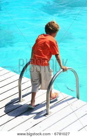 Boy Watching Sea