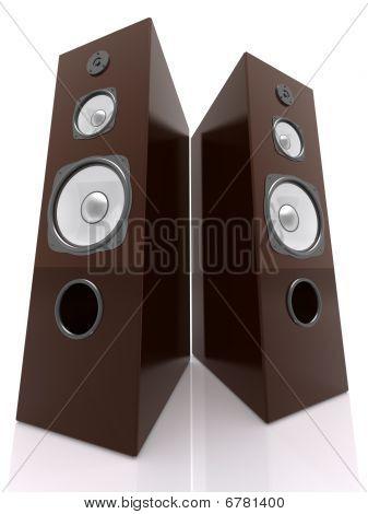 Wooden Speakers Wide