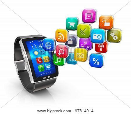 Smart watch applications concept