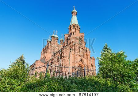 Orthodox church. Famous landmark in Tampere Finland.
