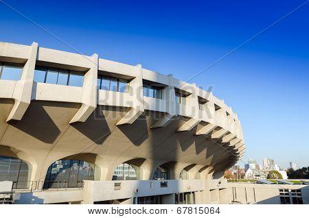 TOKYO, JAPAN - NOVEMBER 20 : Exterior of  Yoyogi National Gymnasium on 2013 November 2, Tokyo, Japan