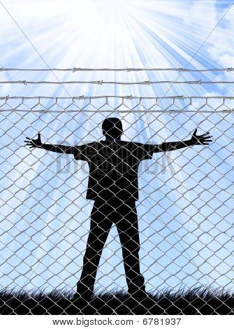 Behinde Fence