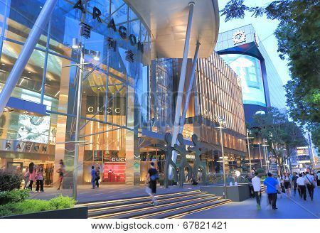 Orchard Road Singapore by night
