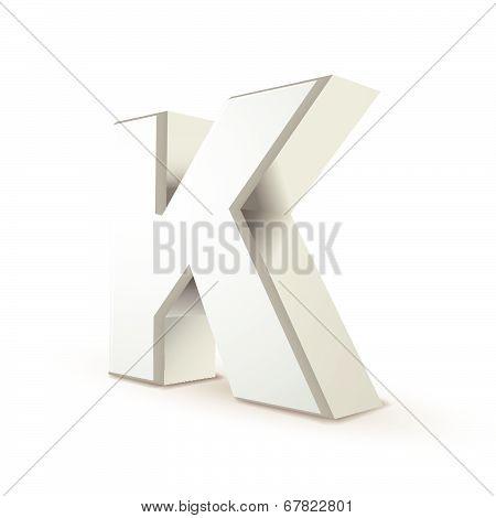 3D Alphabet Silver K