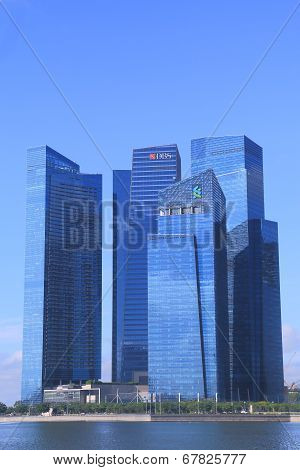DBS bank Cityscape Singapore