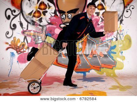 Graffiti urbano de carteiro