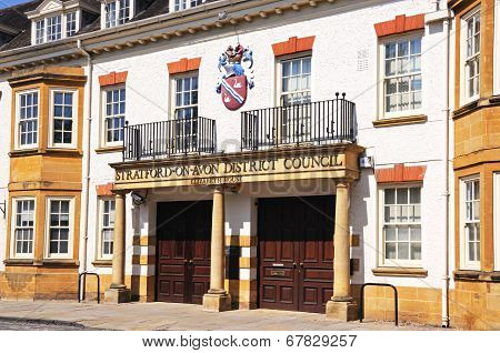 District council building, Stratford-upon-Avon.