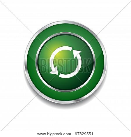 Reset Sync Circular Vector Green Web Icon Button