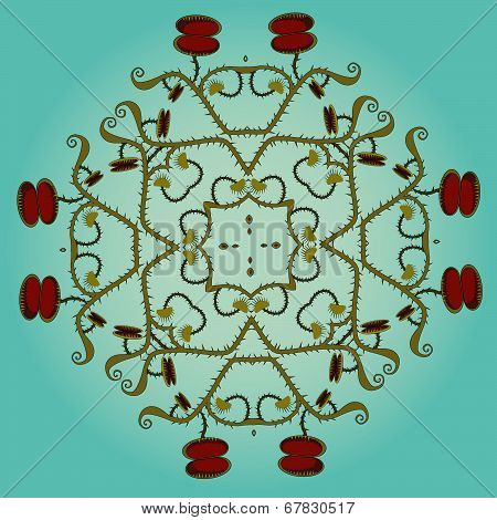 Decorative venus flytrap round ornament