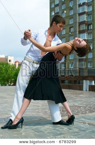 Couple Dancing Latino Dance