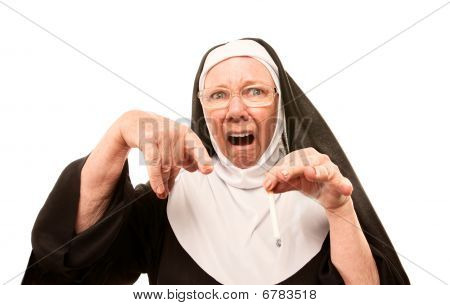 Nun Horrified By Cigarette