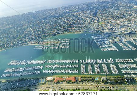 Aerial View Of Point Loma, San Diego