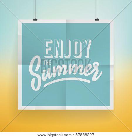 Summer Holiday Poster Design
