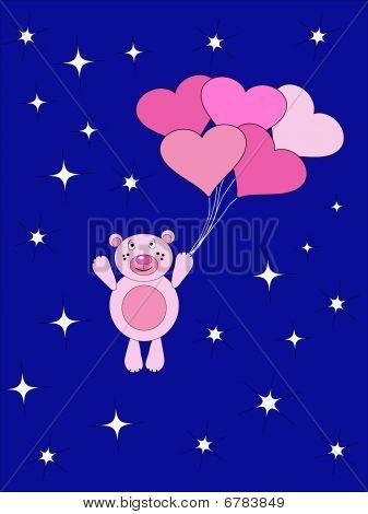 The Teddy Bear Flies On Air Ball.