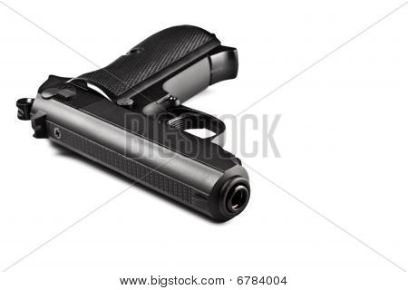 Black Laying Police Pistol