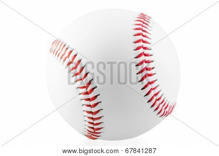 New Ball For The Game Of Baseball On A White Background