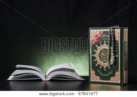 Quran Holy Book Closed And Open