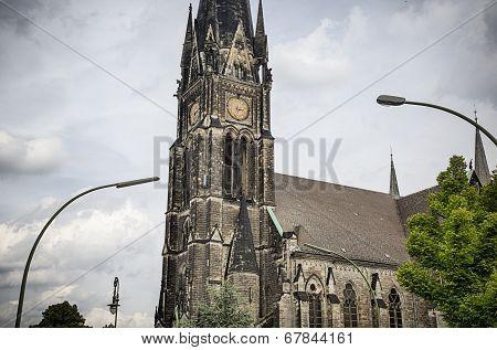 Hdr Shoot, Detail  Of An Old Church In Berlin Kreuzberg