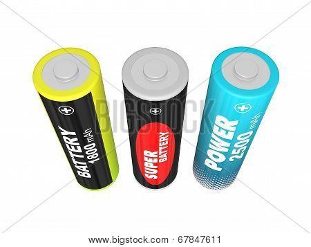 Three Aa Batteries