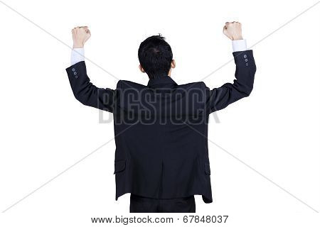 Backside Of Successfull Businessman