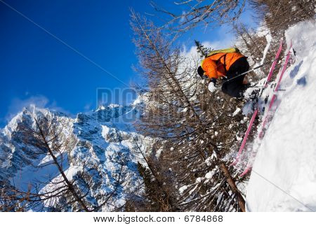 Skier In Air