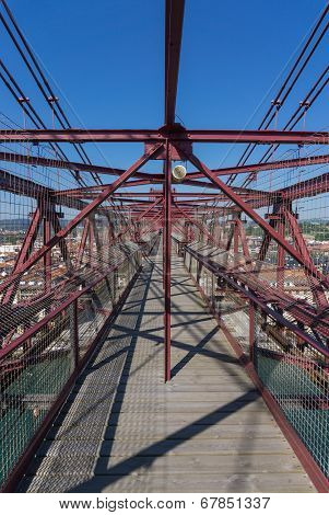 On top of the Bizkaia suspension bridge