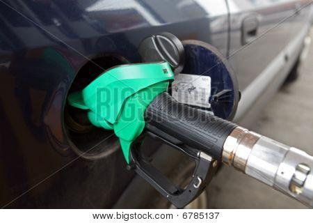 At the gas pump