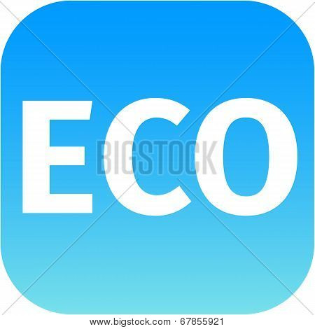 Eco Blue Icon - Ecology