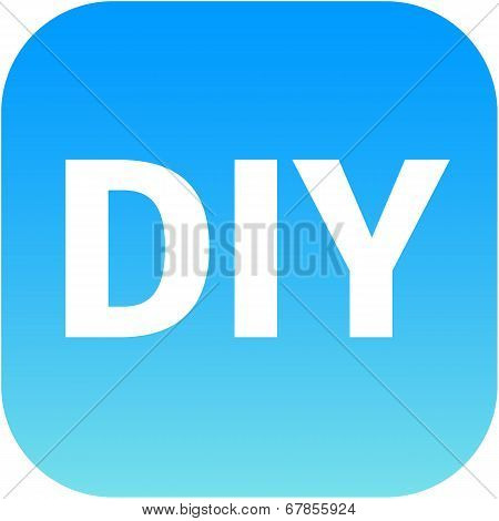 Diy Blue Icon - Do It Yourself