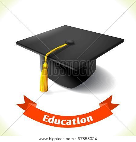 Education icon graduation hat