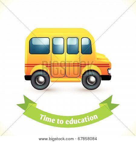 Education icon school bus