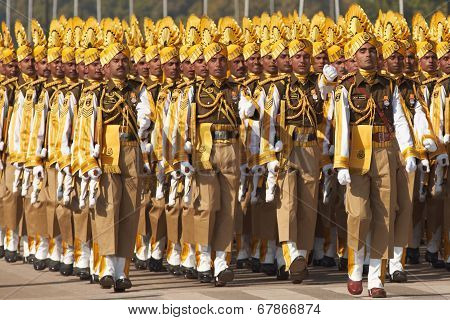 Colourful Soldiers Marching