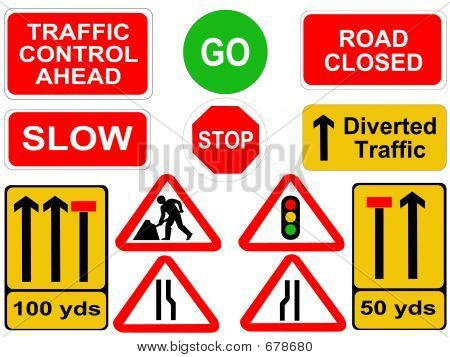 Roadwork Signs