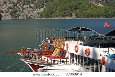 Ships At Berth In Oymapinar, Manavgat, Turkey