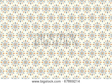 Abstract Circle And Rhomboid Pattern On Pastel Background