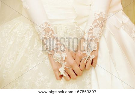Bride In A White Dress