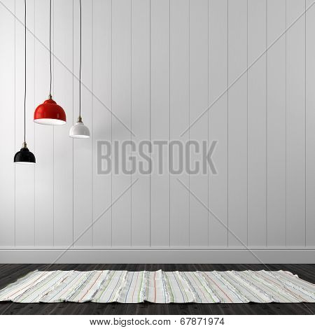 Hanging Lamp In Interior